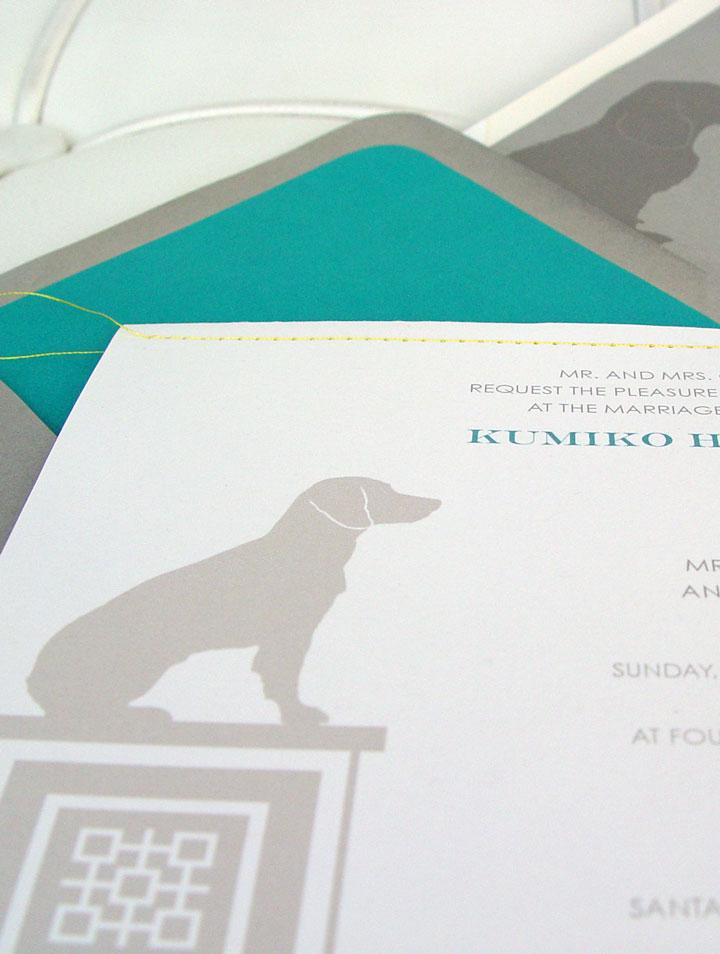 K&C Regal Beagle Invitation Front