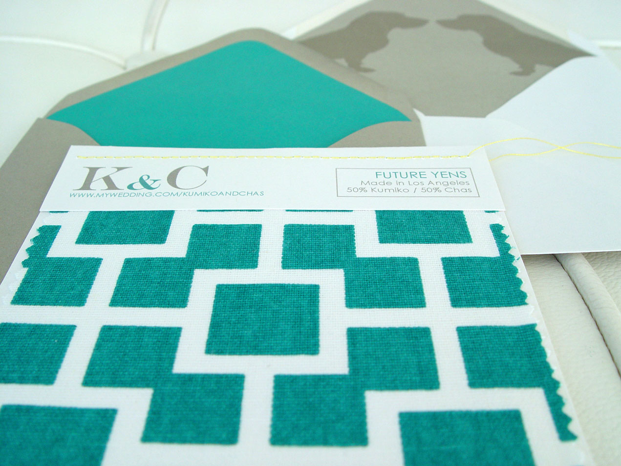 K&C Regal Beagle Swatch Invitation Back