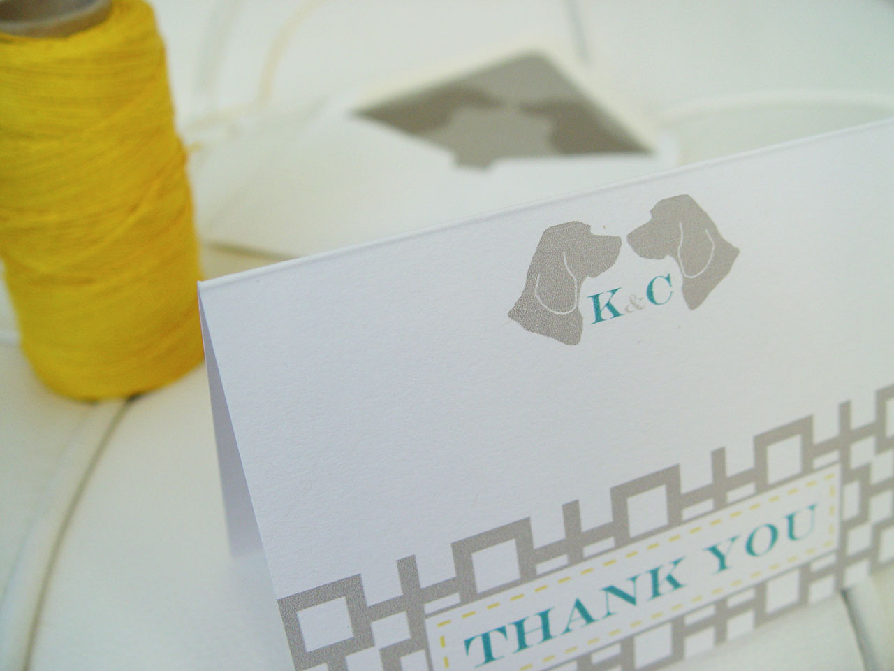 K&C Regal Beagle Thank You Card