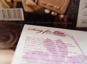 Sesnon Serenade CD Cover Back