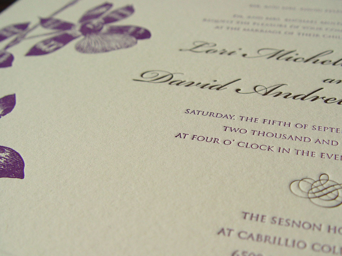 Sesnon Serenade Letterpressed Invitation