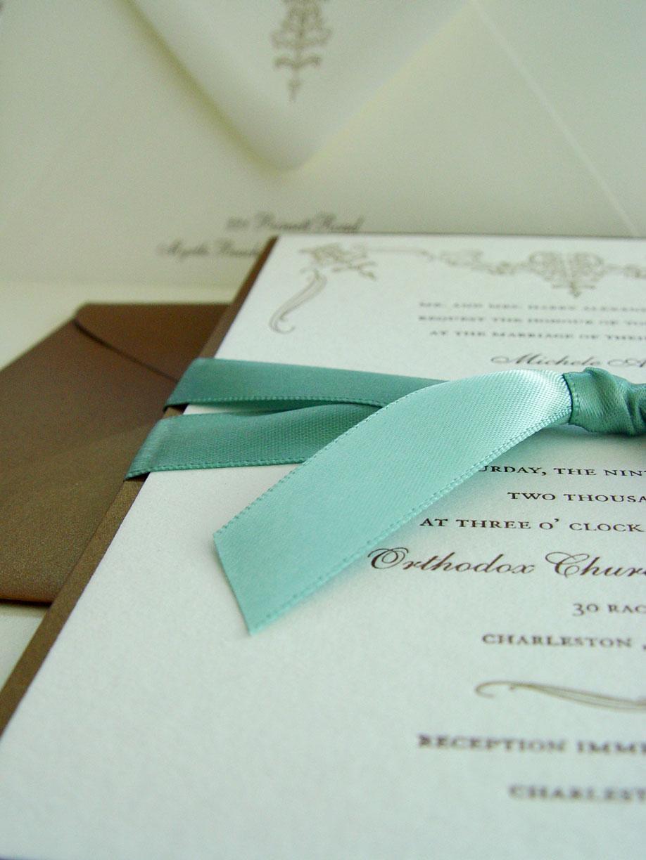 The Charleston Letterpressed Invitation