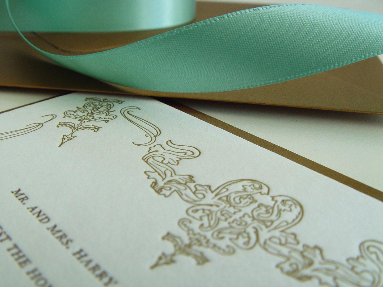 The Charleston Letterpressed Invitation Design