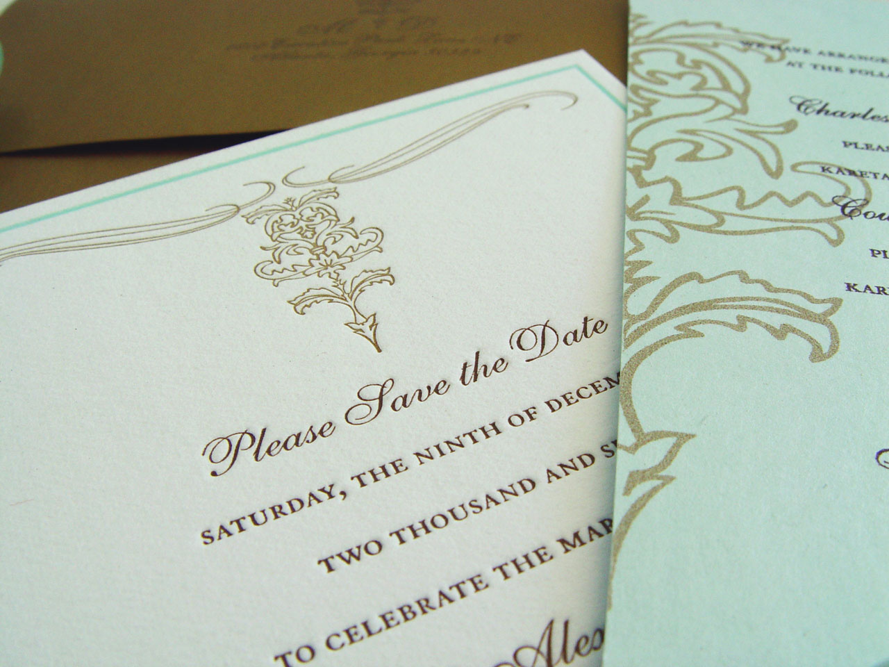 The Charleston Letterpressed Save The Date