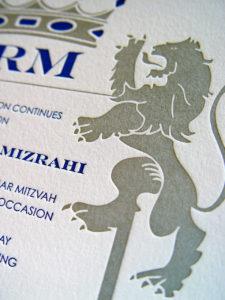 Mazel Lions Invitation Close Up